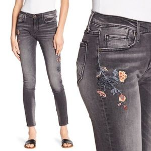 Driftwood Black Jackie Floral Embroidered Jeans